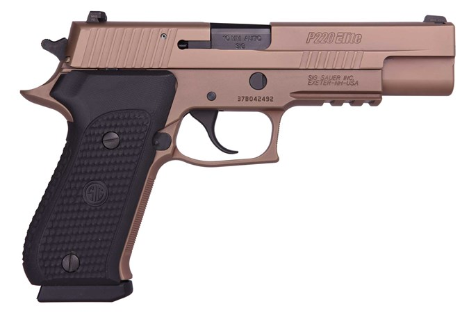 "SIG SAUER P220-10 Emperor Scorpion 10mm Semi-Auto Pistol - Item #: SI220R510ESCPN / MFG Model #: 220R5-10-ESCPN / UPC: 798681555512 - P220 EMP SCORPION 10MM 5"" NS # 220R5-10-ESCPN"
