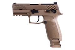 SIG SAUER P320 M18 Carry 9mm  Item #: SI320CA9M18MS2M / MFG Model #: 320CA-9-M18-MS-2M / UPC: 798681654574 P320 M18 CARRY 9MM COY 21+1 NS 320CA-9-M18-MS-2M | COYOTE