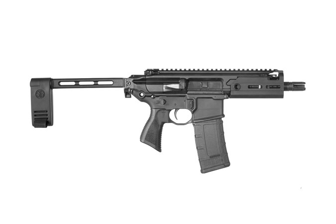"SIG SAUER MCX Rattler Pistol 300 AAC Blackout Semi-Auto Pistol - Item #: SIPMCX300B5BTAP / MFG Model #: PMCX-300B-5B-TAP / UPC: 798681600182 - MCX RATTLER 300BLK 5.5"" MLOK PMCX-300B-5B-TAP|MLOK HG|PCB"