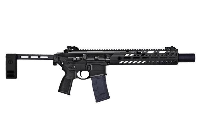 """SIG SAUER MCX TACOPS 300 AAC Blackout Semi-Auto Pistol - Item #: SIPMCX300B6BTAC / MFG Model #: PMCX-300B-6B-TAP-TACOPS / UPC: 798681608232 - MCX TACOPS 300BLK BLK 6.75"""" PMCX-300B-6B-TAP-TACOPS"""