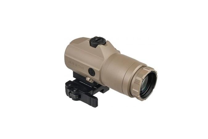 SIG SAUER Juliet 4  Accessory-Lasers and Sights - Item #: SISOJ41002 / MFG Model #: SOJ41002 / UPC: 798681588114 - JULIET4 4X MAGNIFIER QR FDE QUICK RELEASE MOUNT