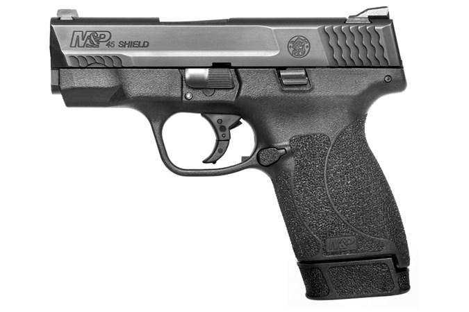 "Smith and Wesson M&P45 Shield 45 ACP Semi-Auto Pistol - Item #: SM11531 / MFG Model #: 11531 / UPC: 022188868135 - M&P45 SHIELD 45ACP 3.3"" 7+1 11531"