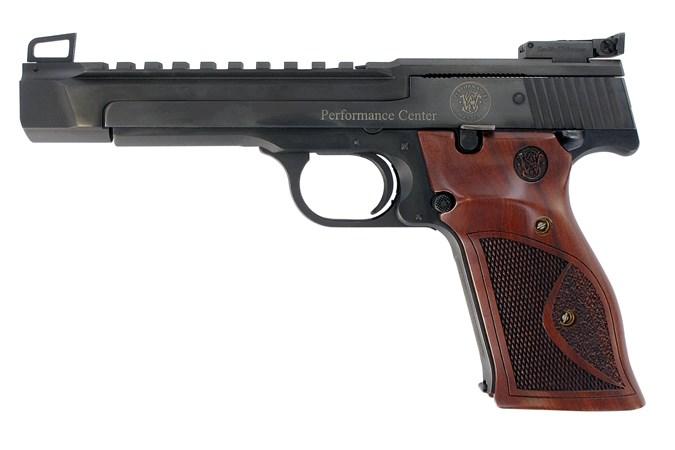 "Smith and Wesson 41 22 LR Semi-Auto Pistol - Item #: SM178031 / MFG Model #: 178031 / UPC: 022188780314 - 41PC 22LR 10+1 BL/WD 5.5"" AS 178031 / OPTICS READY"