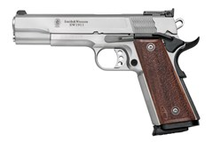 """Smith and Wesson SW1911 9mm  Item #: SM178047 / MFG Model #: 178047 / UPC: 022188780475 SW1911 9MM 10+1 5"""" SS/WD AS 178047  PRO SERIES"""