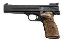 "Smith and Wesson 41 22 LR  Item #: SM130511 / MFG Model #: 130511 / UPC: 022188305111 41 22LR 10+1 BLUE/WOOD 5.5"" AS 130511"