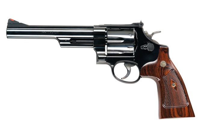 "Smith and Wesson 29 Classic 44 Magnum | 44 Special Revolver - Item #: SM150145 / MFG Model #: 150145 / UPC: 022188129915 - 29 44MAG 6.5"" BL 6RD AS 150145  ALTAMONT WALNUT GRIPS"