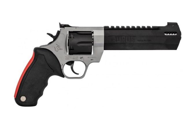 "Taurus RAGING HUNTER 44 Magnum Revolver - Item #: TA446RHT / MFG Model #: 2-440065RH / UPC: 725327617549 - RAGING HUNTER 44M 2TONE 6.75"" 2-440065RH ADJ SIGHTS PORTED"