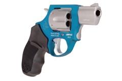 "Taurus 856 Ultra Lite 38 Special  Item #: TA856ASUL / MFG Model #: 2-856029ULC09 / UPC: 725327616597 856 ULTRA LT 38SP AZURE/SS 2"" 2-856029ULC09|FIXED SGT|6 SHOT"