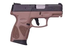 "Taurus G2C 40 S&W  Item #: TAG2C40BR / MFG Model #: 1-G2C4031-10B / UPC: 725327616092 G2C 40S&W BLK/BROWN 3.2"" 10+1 1-G2C4031-10B"