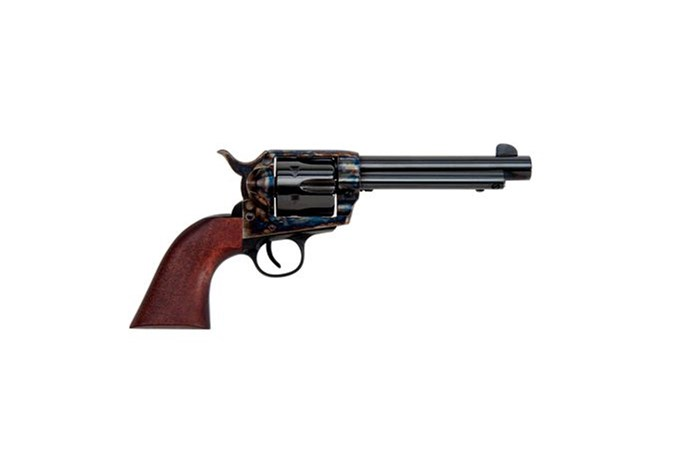 "Traditions 1873 Single Action 357 Magnum | 38 Special Revolver - Item #: TDSAT73-007 / MFG Model #: SAT73-007 / UPC: 040589018133 - 1873 SA 357MAG CCH/WD 5.5"" FRONTIER SERIES"
