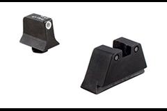 Trijicon GLOCK 3 Dot Suppressor NS Set   Item #: TRGL201C600658 / MFG Model #: GL201-C-600658 / UPC: 719307211254 3DOT SUPPRESSOR NS GLK WHT/BLK GL201-C-600658