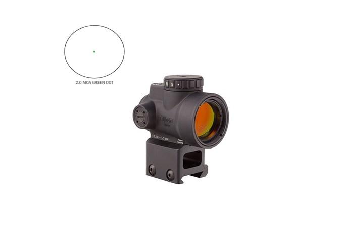 Trijicon MRO Adjustable LED  Accessory-Lasers and Sights - Item #: TRMROC2200031 / MFG Model #: MRO-C-2200031 / UPC: 719307615717 - MRO 1X25 2.0 MOA ILL GN MCW MT MRO-C-2200031 | GREEN DOT