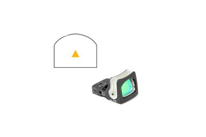 Trijicon RMR Dual Illuminated Sight  Accessory-Lasers and Sights - Item #: TRRM08A / MFG Model #: RM08A / UPC: 719307606449 - RMR D-I SIGHT 12MOA AMB TRI RM08A | AMBER TRIANGLE