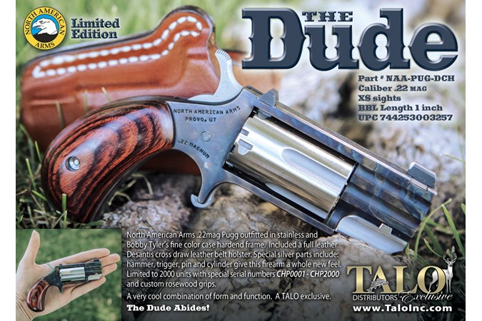 """North American Arms Pug """"The Dude"""" 22 Magnum Revolver"""