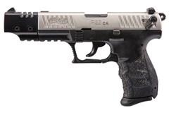 "Walther Arms P22 Target 22 LR  Item #: WA5120337 / MFG Model #: 5120337 / UPC: 723364200366 P22 TARGET 22LR 10+1 5"" NKL CA CALIFORNIA COMPLIANT"