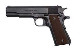 Auto-Ordnance - Thompson 1911A1 9mm  Item #: AO1911BKO9 / MFG Model #: 1911BKO9 / UPC: 602686321112 1911A1 GI 9MM MATTE BLK 5""