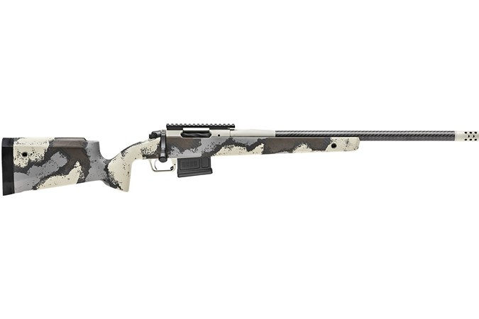 Springfield Armory 2020 Waypoint 6.5 Creedmoor Rifle - Item #: SFBAW92265CMCFD / MFG Model #: BAW92265CMCFD / UPC: 706397939410 - WAYPOINT 6.5CR CF FXD DESERT CARBON BARREL   FIXED STOCK