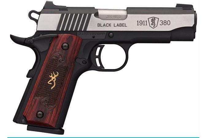 Browning 1911-380 Medallion Pro 380 ACP Semi-Auto Pistol - Item #: BR051-913492 / MFG Model #: 051913492 / UPC: 023614443759 - 1911-380 MED CPT 380ACP SS 8+1 MANUAL THUMB SAFETY