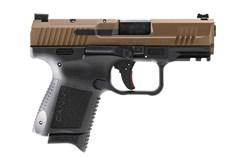 "LIPSEY'S EXCLUSIVE CANIK TP9 Elite SC 9mm  Item #: CAHG5610B-N / MFG Model #: HG5610B-N / UPC: 787450611726 CANIK TP9 ELITE SC BRONZE 3.5"" FULL ACCESSORY PACK"