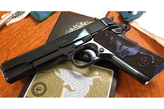 """Colt Series 80 Custom 38 Super Semi-Auto Pistol - Item #: COO1073BST-DB / MFG Model #: O1073BSTS-DB / UPC: 098289111951 - CUSTOM COBALT SER80 38SPR 9+1# SERIES 80 CUSTOM   5"""" BBL"""