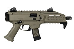 CZ-USA Scorpion Evo 3 S1 Pistol 9mm  Item #: CZ01352 / MFG Model #: 01352 / UPC: 806703013527 SCORPION PISTOL 9MM FDE 10+1 ADJUSTABLE SIGHTS 10+1