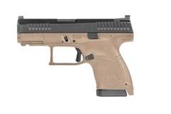 "CZ-USA CZ P-10 Sub-Compact 9mm  Item #: CZ01561 / MFG Model #: 01561 / UPC: 806703015613 P-10 S 9MM FDE 10+1 3.5"""
