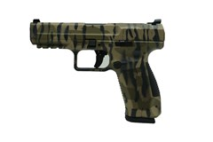 LIPSEY'S EXCLUSIVE CANIK TP9SF Special Forces 9mm  Item #: CAHG6632-N / MFG Model #: HG6632-N / UPC: 787450751620 CANIK TP9SF 9MM TS CAMO 18+1 TIGER STRIPE CAMO