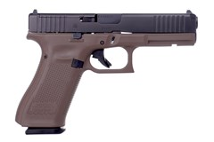 "LIPSEY'S EXCLUSIVE GLOCK G17 G5 MOS 9mm  Item #: GLPA175S201MOSD / MFG Model #: PA175S201MOSDE / UPC: 764503044311 G17 G5 9MM 10+1 4.49"" MOS FDE 3-10RD MAGS 