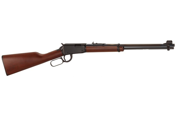 "Henry Repeating Arms Standard Lever 22 LR Rifle - Item #: HNH001 / MFG Model #: H001 / UPC: 619835001009 - LEVER ACTION 22LR BL/WD 18.25"""