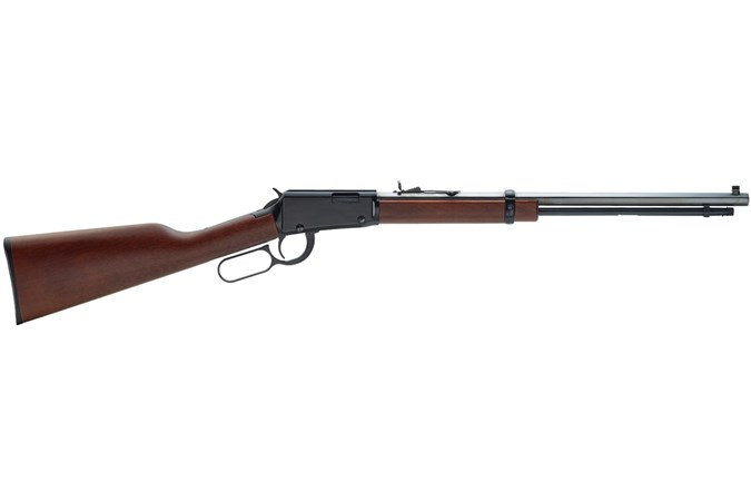 """Henry Repeating Arms Octagon Lever 22 LR Rifle - Item #: HNH001T / MFG Model #: H001T / UPC: 619835011008 - LEVER ACT 22LR 20"""" OCTAGON BBL BLUE/WALNUT"""