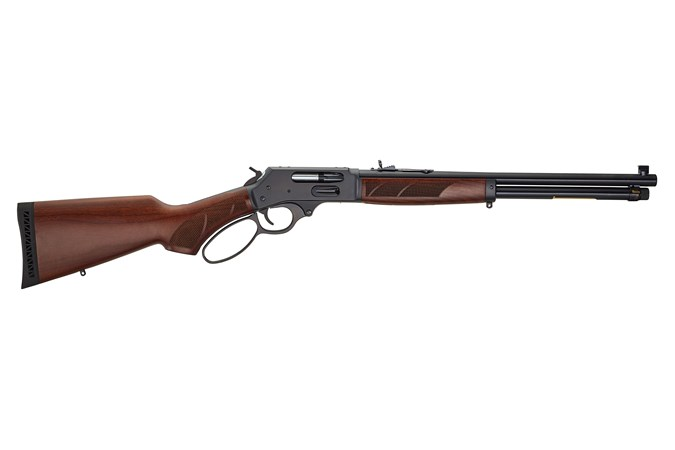 Henry Repeating Arms Lever Action 45-70 GOVT Rifle - Item #: HNH010G / MFG Model #: H010G / UPC: 619835100146 - LEVER ACTION 45-70 BL/WD SIDE GATE