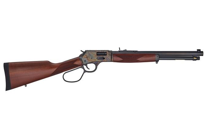 "Henry Repeating Arms Big Boy Steel 45 Colt Rifle - Item #: HNH012GCRCC / MFG Model #: H012GCRCC / UPC: 619835200341 - BIG BOY STEEL 45LC 16.5"" CCH SIDE GATE"