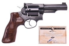 "LIPSEY'S EXCLUSIVE Ruger GP100 44 Special  Item #: RUGP4441-JQ / MFG Model #: 1788 / UPC: 736676017881 GP100 44SPC BLUE 4"" JEFF QUINN 1788 HALF LUG BBL/POLISHED BL"