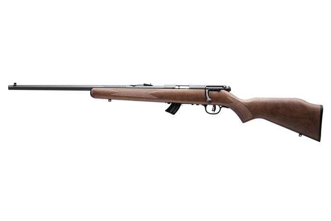 Savage Arms Mark II GLY 22 LR Rifle - Item #: SVMARKIIGLY-AT / MFG Model #: 50702 / UPC: 062654507021 - MARK II BOLT 22LR BL/WD CPT LH 50702   YOUTH MODEL
