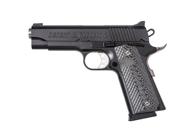 "Magnum Research Desert Eagle 1911 45 ACP Semi-Auto Pistol - Item #: MRDE1911C / MFG Model #: DE1911C / UPC: 761226086208 - DESERT EAGLE 1911 45ACP 4.33"" BLACK"