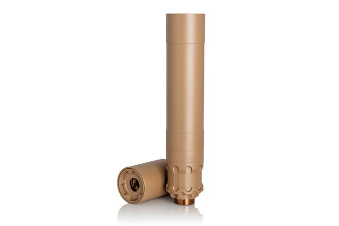 Rugged Suppressors Obsidian45 45 ACP NFA - Silencer - Item #: RGOBSFDE45 / MFG Model #: OBSFDE45 / UPC: 859383006624 - OBSIDIAN45 45ACP SILENCER FDE