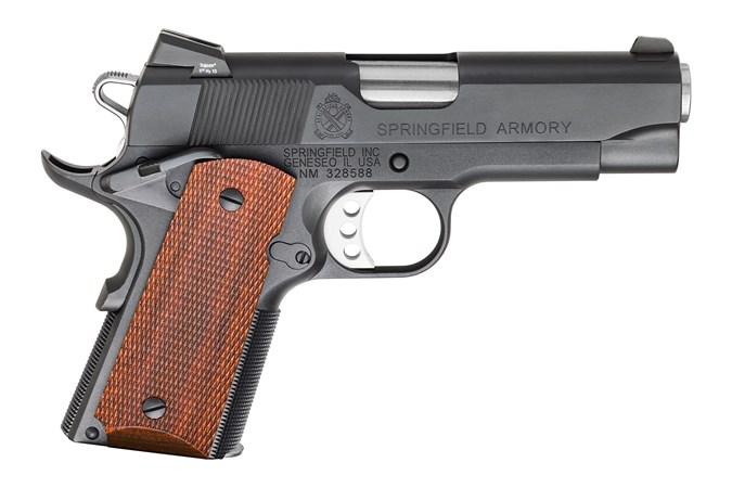 "Springfield Armory 1911 Compact Carry 45 ACP Semi-Auto Pistol - Item #: SFPC9104CC / MFG Model #: PC9104CC / UPC:  - 1911 COMPACT CARRY 45ACP 4"" CUSTOM SHOP"