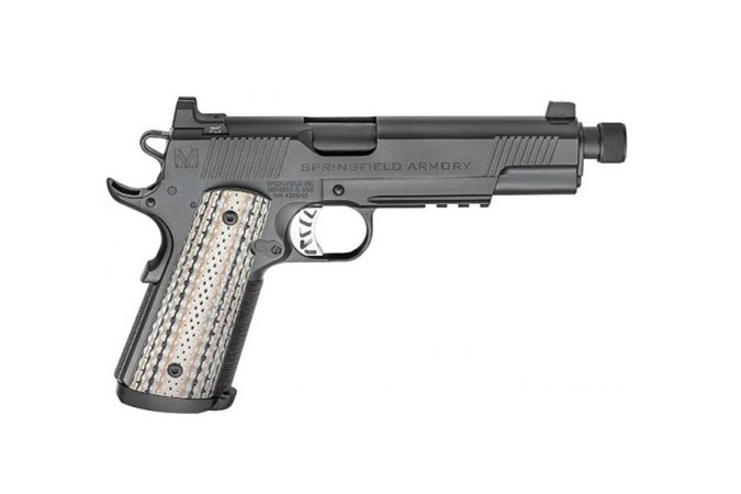 Springfield Armory 1911 MC Silent Operator 45 ACP Semi-Auto Pistol - Item #: SFPCE9105B / MFG Model #: PCE9105B / UPC: 706397905675 - 1911 SILENT OPERATOR 45ACP MASTER CLASS