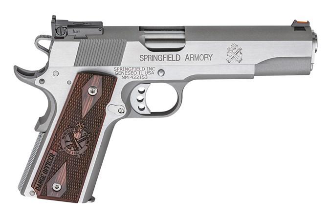 "Springfield Armory Range Officer 45 ACP Semi-Auto Pistol - Item #: SFPI9124L / MFG Model #: PI9124L / UPC: 706397913038 - 1911 RNGE OFFICER 45ACP SS 5"""