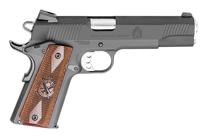 "Springfield Armory Loaded Parkerized 45 ACP Semi-Auto Pistol - Item #: SFPX9109L / MFG Model #: PX9109L / UPC: 706397141097 - 1911 45 LOADED PARKERIZED NS 5"" BBL| FULL SIZE GRIP 7+1"