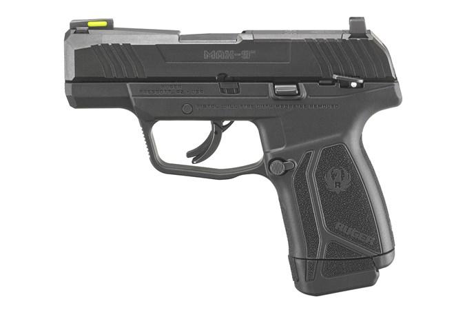Ruger Max-9 9mm Semi-Auto Pistol - Item #: RUMAX-9 / MFG Model #: 3500 / UPC: 736676035007 - MAX-9 9MM BLK/BLK 12+1 AS SFTY 3500 MANUAL SAFETY