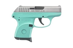 TALO EXCLUSIVE Ruger LCP 380 ACP  Item #: RUKLCP-TG / MFG Model #: 3745 / UPC: 736676037452 LCP 380ACP TURQUOISE/SS 6+1 3745|TURQUOISE CERAKOTE FRAME