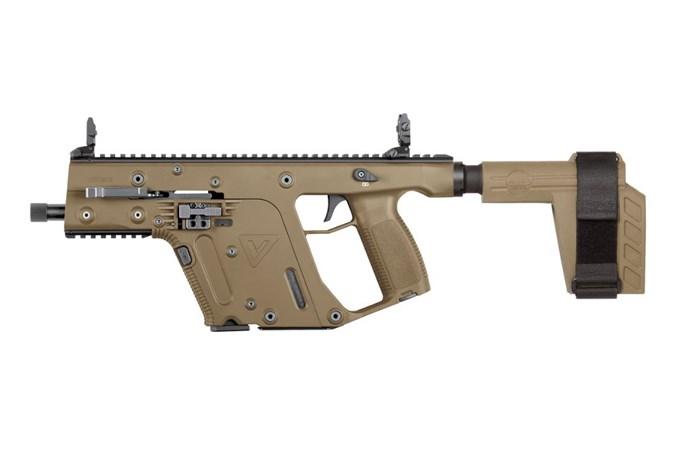 """Kriss USA Vector SDP-SB 9mm Semi-Auto Pistol - Item #: KRKV90-PSBFD20 / MFG Model #: KV90-PSBFD20 / UPC: 810237024409 - VECTOR SDP-SB G2 9MM 5.5"""" FDE"""