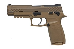 SIG SAUER P320 M17 9mm  Item #: SI320F9M17MS2M / MFG Model #: 320F-9-M17-MS-2M / UPC: 798681654543 P320 M17 9MM 17+1 COYOTE SFTY 320F-9-M17-MS-2M|MANUAL SAFETY