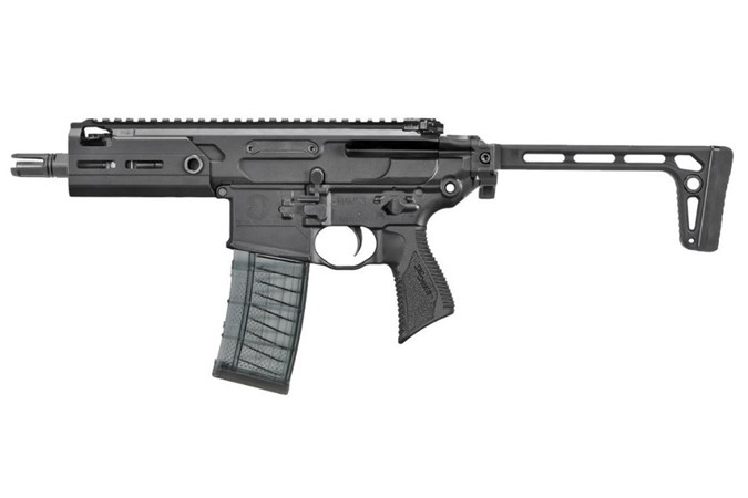 "SIG SAUER MCX Rattler SBR 300 AAC Blackout NFA - Short Barrel Rifle - Item #: SIRMCX300B5TSBR / MFG Model #: RMCX-300B-5B-TAP-SBR / UPC: 798681581313 - MCX RATTLER 300BLK SBR BK 5.5"" RMCX-300B-5B-TAP-SBR | 30+1"