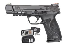 "Smith and Wesson M&P9 M2.0 Pro Series 9mm  Item #: SM11820 / MFG Model #: 11820 / UPC: 022188871173 M&P9 M2.0 PC 9MM 5"" HIVIZ AS 11820 | 17+1 | PERFORMANCE CTR"