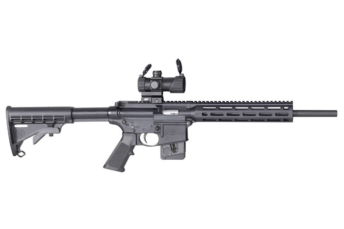 Smith and Wesson M&P15-22 Sport OR 22 LR Rifle - Item #: SM12724 / MFG Model #: 12724 / UPC: 022188879421 - M&P15-22 SPORT OR 22LR 10+1 CA 12724 | STATE COMPLY | OPTIC