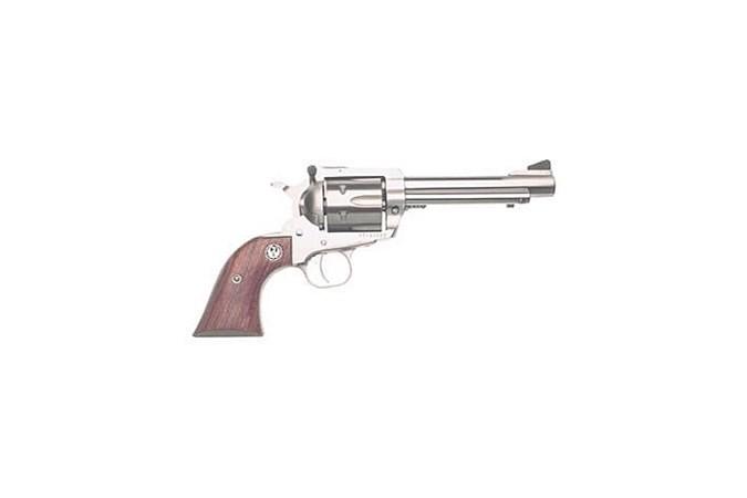 Ruger Super Blackhawk 44 Magnum   44 Special Revolver - Item #: RUKS45N / MFG Model #: 0811 / UPC: 736676008117 - SUPER BLKHAWK 44MAG 5-1/2 SS 0811 FLUTED/ROUND TGR GUARD