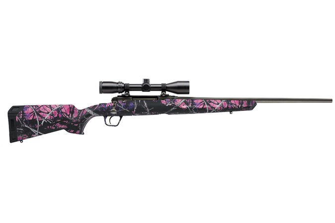 Savage Arms Axis XP Camo Compact 223 Rem Rifle - Item #: SVAXG2XPCMG223 / MFG Model #: 57271 / UPC: 011356572714 - AXIS 223REM CPCT MDYGRL PKG 57271|3-9X40 WEAVER|MUDDYGIRL