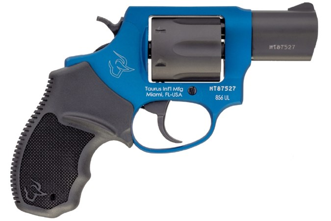 "Taurus 856 Ultra Lite 38 Special Revolver - Item #: TA856CBUL / MFG Model #: 2-856021ULC17 / UPC: 725327619468 - 856 ULTRA LT 38SP COBALT/BK 2"" 2-856021ULC17|FIXED SGT|6 SHOT"